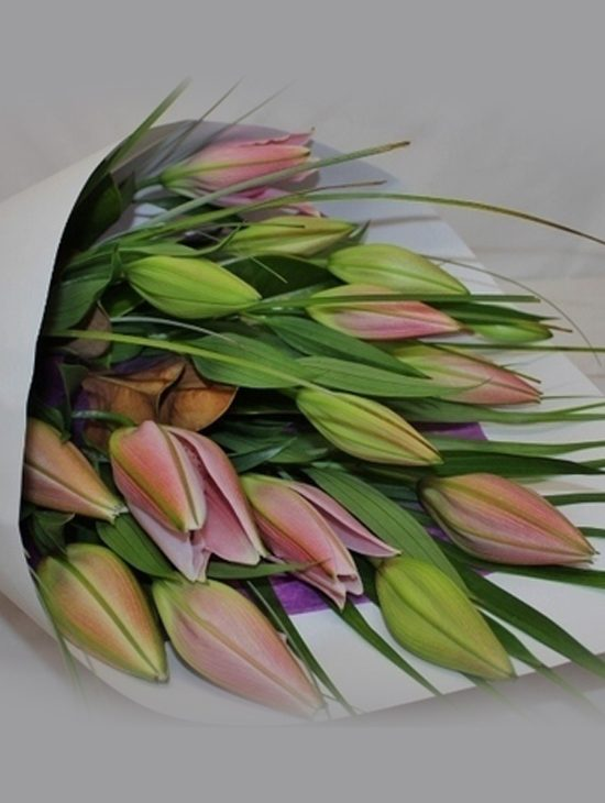 Shown Pink Lily White available