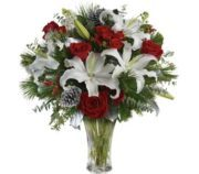 red roses and white lillies a winner