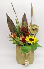 New Zeealand style arrangement in a Kete