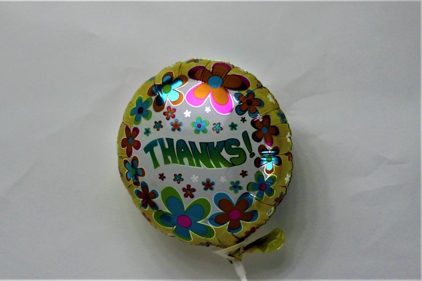 Air filled Thank You Balloon