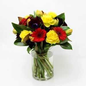 Delicious flowers in a vase