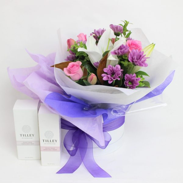 small posy, 2 body products