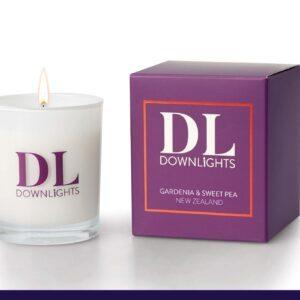 Classic gardeneia and sweet pea fragrance candle