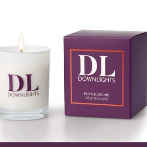 Down lights Classic Purple Orchid Candle