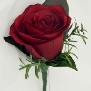 Simple Red Rose Button Hole